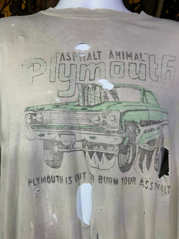 "Original vintage plymouth ""Asphalt animal"" destroy"