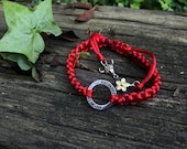 Strength bracelet - macramé 本命年 good luck bracelet for chinese new year and lunar new year, ox, taurus, year of the ox, 手鍊, 紅線