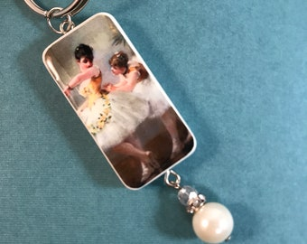 Ballet Zipper Charm- birthstone and initial Ballet Zipper Pull Ballerina Gift Ballet Bag Charm Ballet Zipper Charm Ballet Mom Gift