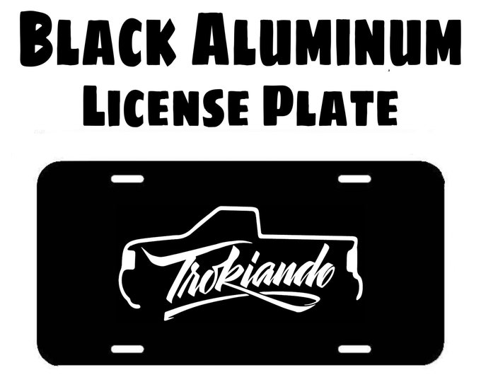 Trokiando Black Aluminum License Plate