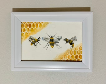 Honeycomb and bees By: K.T.Lynn
