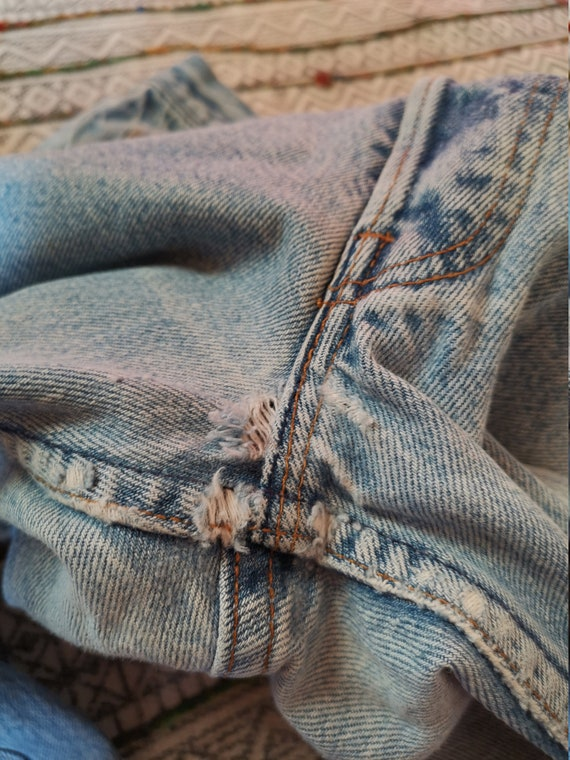 80s LEVIS 501 Button-Fly Jeans USA Made Distresse… - image 10