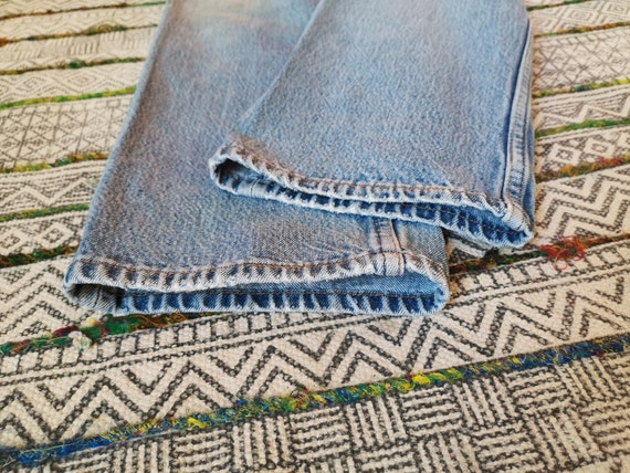 80s LEVIS 501 Button-Fly Jeans USA Made Distresse… - image 8