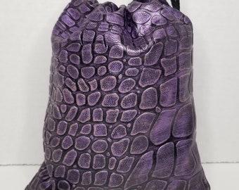 Purple Dragon Scale Small Hand Bag