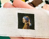 Girl With Pearl Earring Cross Stitch Pattern - Square