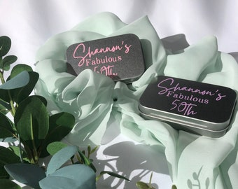 Custom Hair Color Personalized Customized Cute Wedding Couple Holding Hands Mint Tins Custom Eye Color Bride and Groom Favors