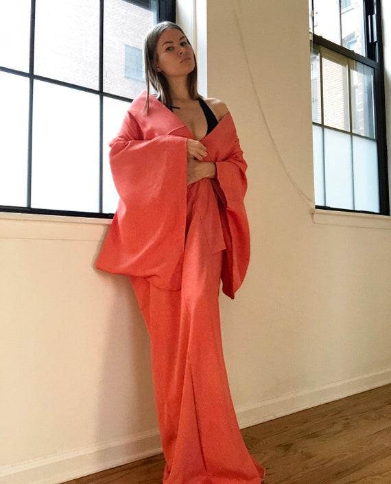 luxury silk robes high quality traditional Japanese kimono for women authentic KOMON kimono Long silver gray silk kimono