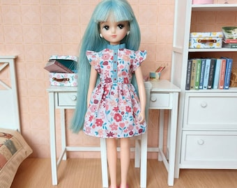 Blythe and Licca summer dress, vintage style