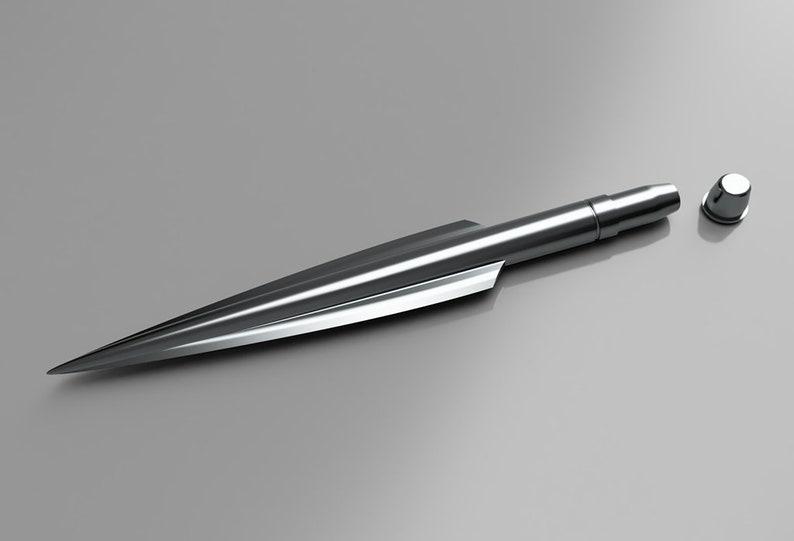 Beskar Steel Spear Topper \u2013 The Mandalorian 3D Model