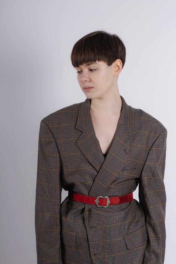 Extra oversize plaid blazer, Wool vintage blazer