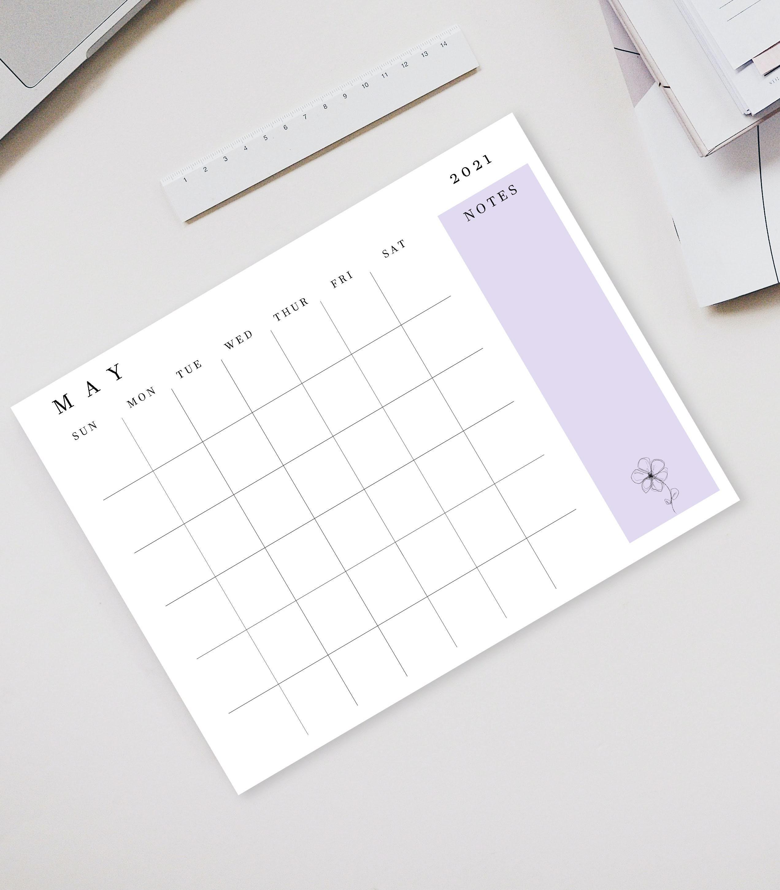 2021 Druckbare Kalender Monatliche Wandkalender druckbare ...