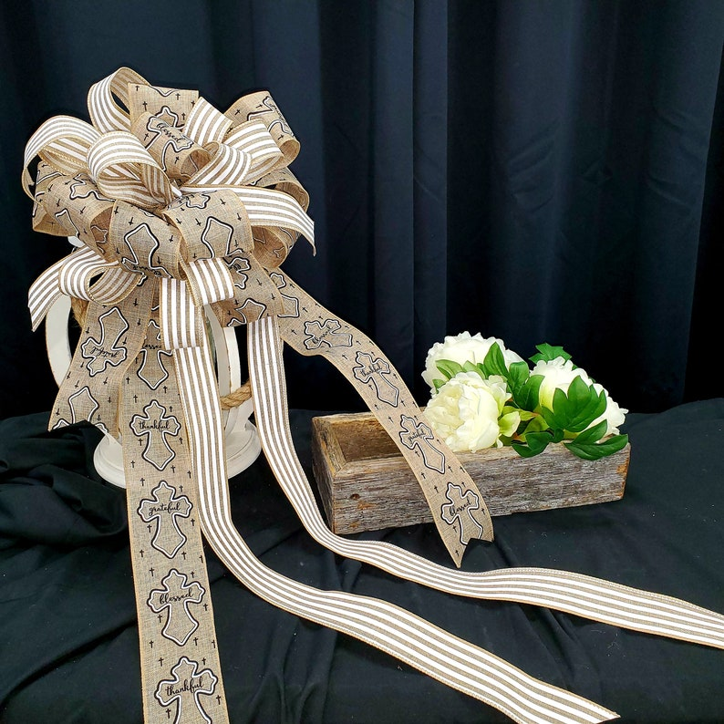 Tree Bow Spring Wreath Bow Extra Large Bow Craft Bow Lantern Bow Religious Bow Wired Ribbon Bow Wreath Bow Large Lantern Bow bows