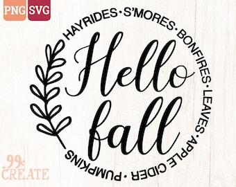 hello fall svg   fall svg   welcome svg   smores svg   autumn svg   thanksgiving svg   bonfire svg   fall shirt svg   fall sign svg png