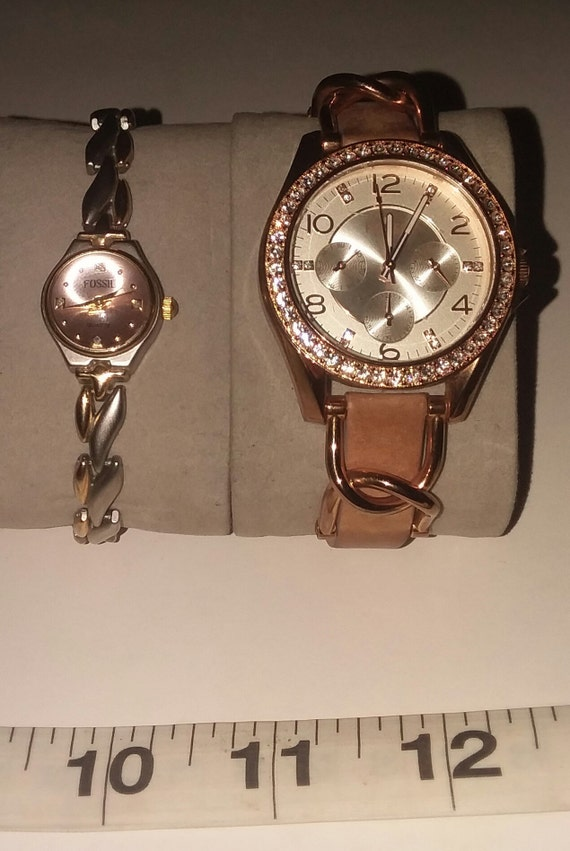 Fossil Quartz, Lot of 2. Womens watches