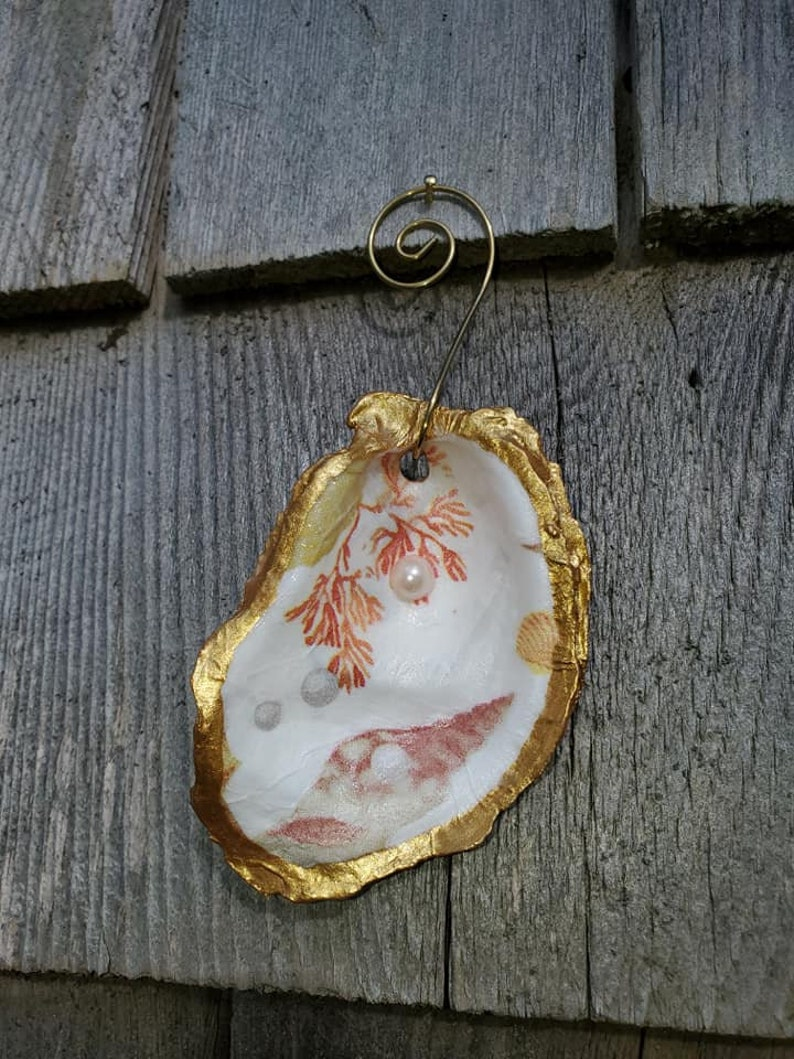 Gifts Cape Cod Nautical Shells #40 Oyster Ornaments