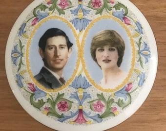 Charles and Diana Memorabilia, Vintage Coalport Bone China Trinket Box
