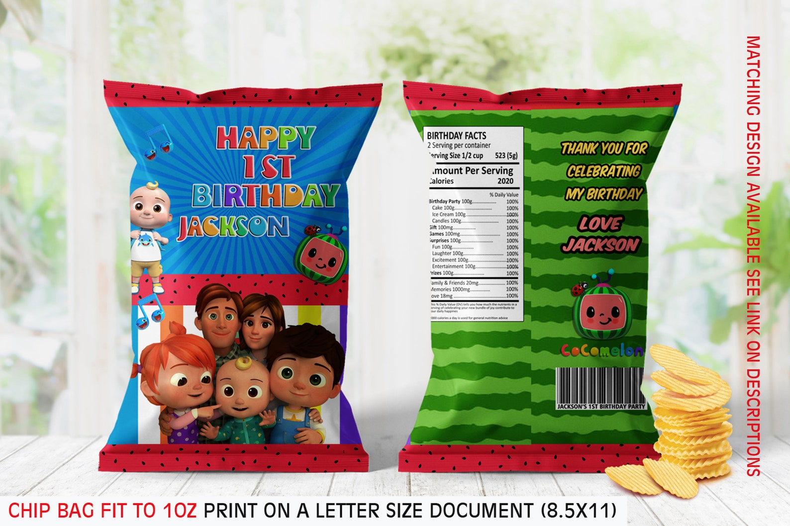Printable Cocomelon Chip Bags Page Two