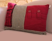 Upcycling Coussin Classy - Pink 40x60cm