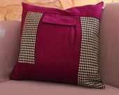 Upcycling Coussin Classy - Pink 50x50cm