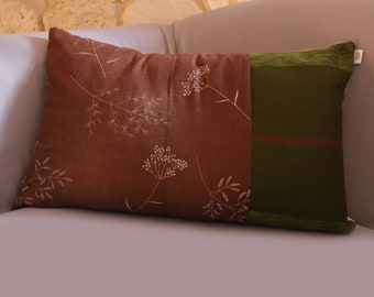 Green forest cushion 40x60cm