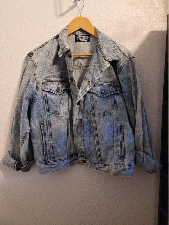 Acid Washed Expressions Denim Jacket