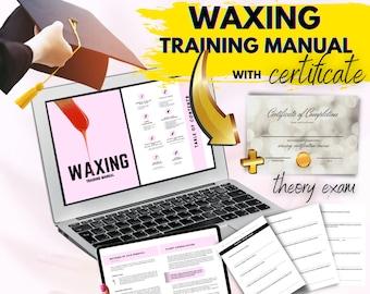 Waxing Training Manual,Hard Wax, Soft Wax, Hair Removal, Theory Exam,Test,Teach,Learn,Download