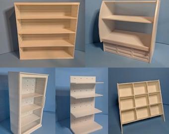 3D Print Files for Shelves for Mini Brands 5 Surprise Toys Shopkins Real Littles Miniatures