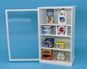 Mini Brands Extra Deep Toy Grocery Store Refrigerator Fridge Shelf for Mini Brands 5 Surprise Toys Shopkins Real Littles