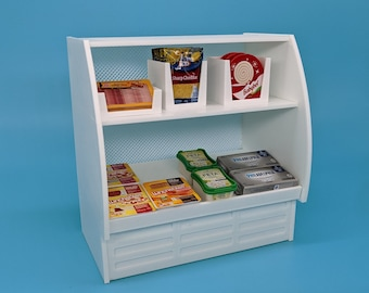 Mini Brands Deli Meat Counter Display Case for Mini Brands 5 Surprise Toys Shopkins Real Littles Miniatures