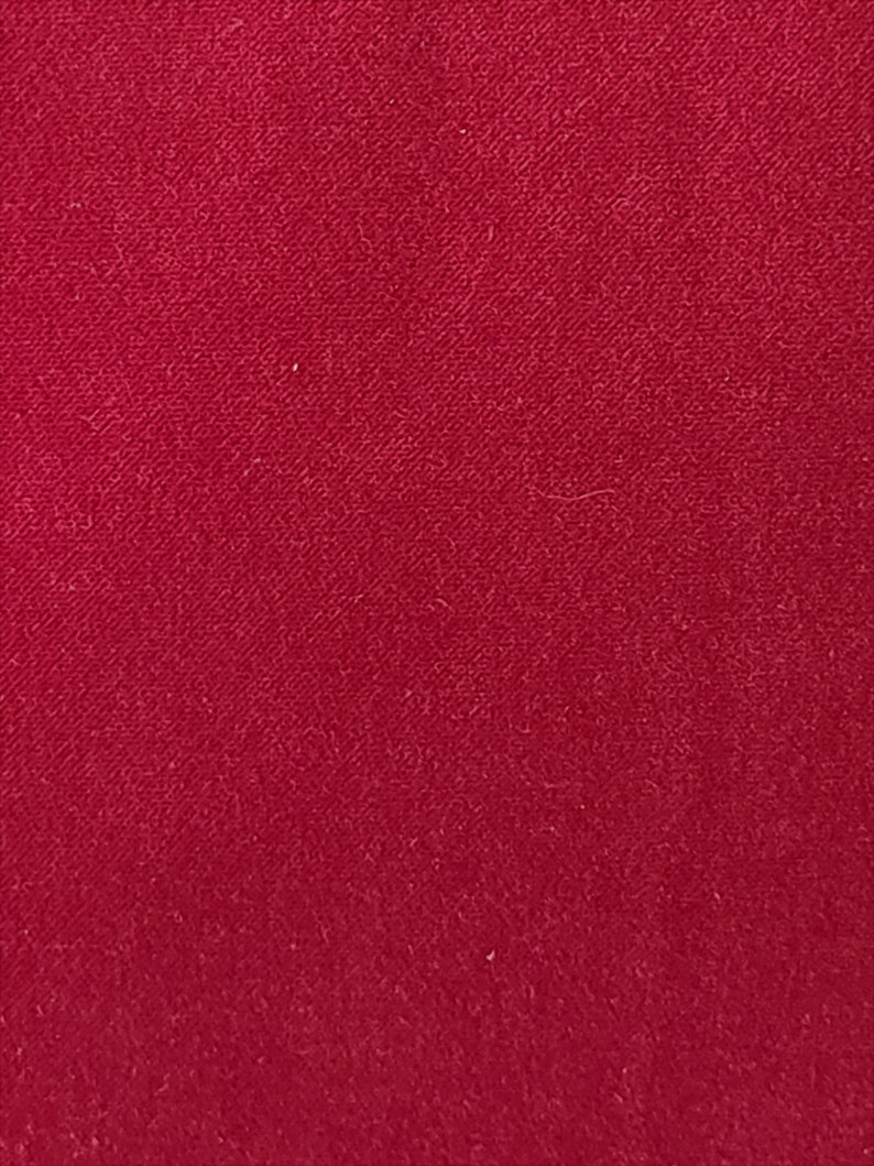 Really Rich Color!! Cranberry Velvet Upholstery Weight