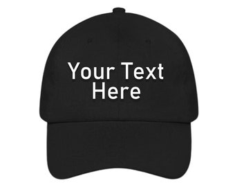 Embroidered Logo Hat Personalized Customized Unique Gift Logo Baseball Cap Dad Custom Made to Order Hat Simple Elegant Cotton Team Hat