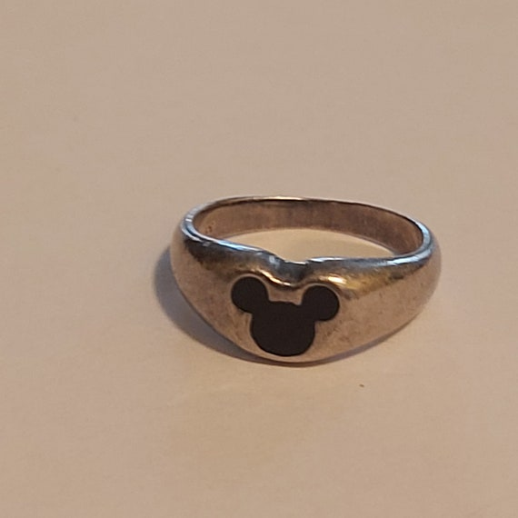 Vintage Disney, Silver Mickey Mouse ring