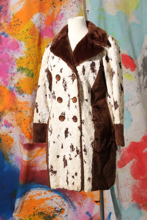 70s Faux Fur Spotted Coat