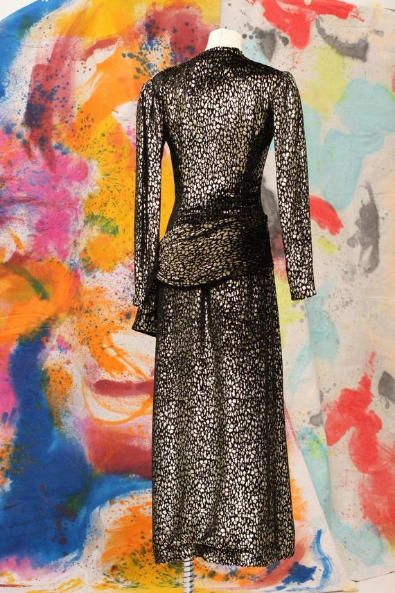 1970s/80s Pauline Trigere Silk Velvet Cheetah Pri… - image 2