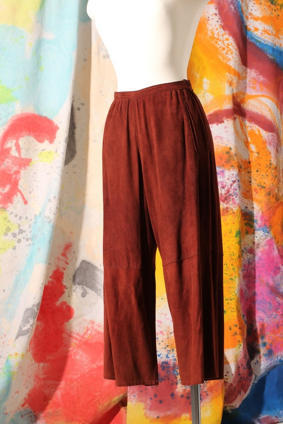 80s North Beach Rust Suede Gaucho/Culotte Style Le