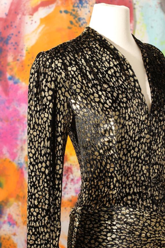 1970s/80s Pauline Trigere Silk Velvet Cheetah Pri… - image 3
