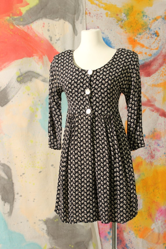 90s does 40s Rayon Print Romper