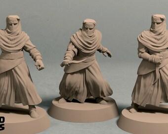 Night's Cult zealots pack (3 miniatures) - 3D printed tabletop miniatures