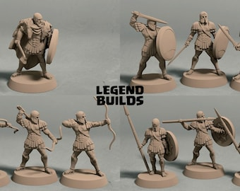 Realm of Eros army (10 miniatures) - 3D printed tabletop miniatures