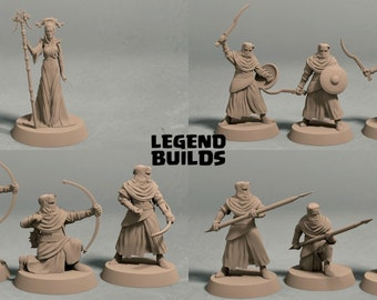 Night's Cult army (10 miniatures) - 3D printed tabletop miniatures