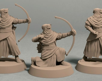 Night's Cult archers pack (3 miniatures) - 3D printed tabletop miniatures