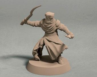 Night's Cult captain miniature – 3D printed miniature