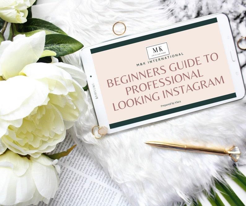 Beginners guide to professional looking Instagram  Ebook  image 0