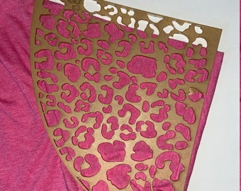 Acrylic Template for Bleaching Tee Shirt in a Pattern Doily Rectangle Hem Lacey Lace Stencil for Bottom of Shirt Hem