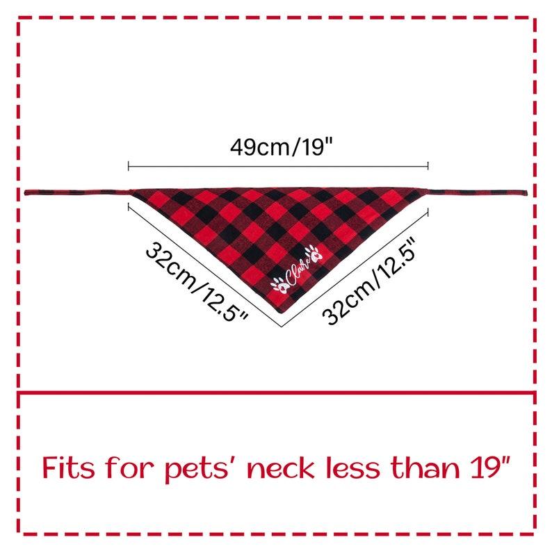 Personalized Dog Scarf Embroidered Premium Plaid Dog Bandana Soft Pet Flannel Bandana With Name Animal Neckwear Dog Gift Animal Neckwear