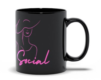 Afternoon Social Black Mug