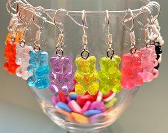 food earrings summer earrings Candy Earrings sweets earrings wood bonbon earrings