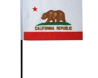 Flagge Von Kalifornien Bestickt Aufnäher//Abzeichen
