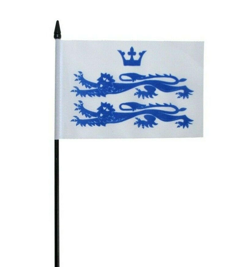 6 x 4 Table Flag British County Berkshire Old Small Hand Waving Flag