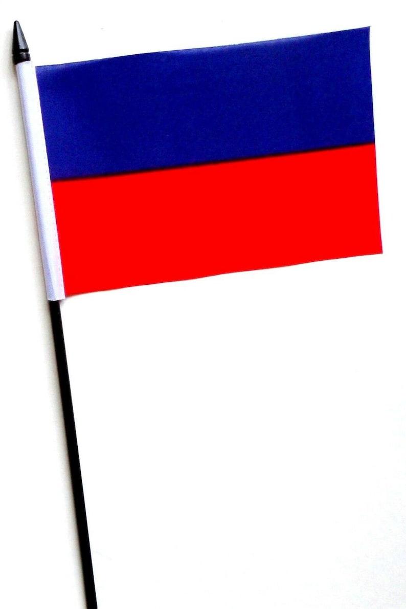 Haiti No Crest Small Hand Waving Flag Country 6 x 4 Table Flag